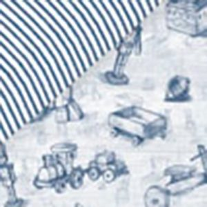 Petit Lazzari Vintage Toys - Funda nórdica reversible para maxi cuna, 70 x 140 cm, color azul