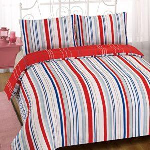 Dreamscene Karla funda de edredón con funda de almohada juego de ropa de cama, rojo, doble