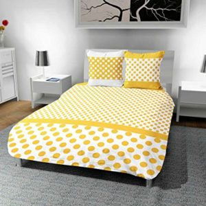 Intemporel Mosaique–Juego de cama (algodón, funda nórdica de 240x 220cm lunares, poliéster, amarillo, 240x 220x 1cm