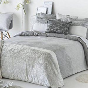 Antilo - Funda nórdica KILIAN cama 150 y funda almohada 45x170 - Color Gris (Juego duvet 2 piezas con saco nórdico y funda de almohada)