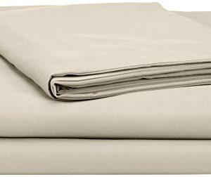AmazonBasics - Juego de fundas de edredón y de almohada de microfibra, 135 x 200 cm + 1 funda 50 x 80 cm - Beige