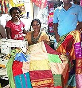 Jellybean ® Auténtica cama de Sri Lanka hecha a mano de la cubierta funda nórdica Diseños únicos seda preciosa Feel