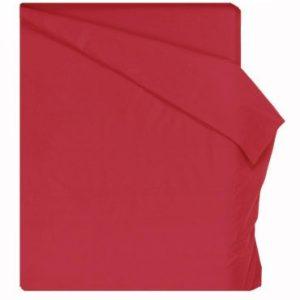 Home Royal - Funda nórdica lisa de 155 x 260 cm, para cama de 90 cm, color rojo