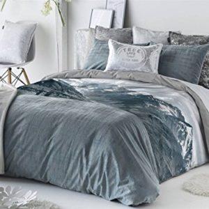 Antilo - Funda nórdica CAILIN cama 150 y funda almohada 45x170 (Juego duvet 3 piezas con saco nórdico, cojines decorativos y funda de almohada)