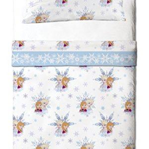 Disney Frozen Friends - Juego de sábanas de 3 piezas para cama de 90 cm
