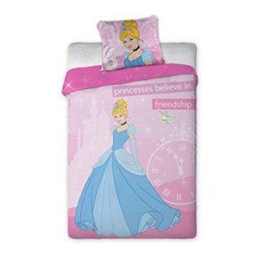 Cenicienta Parure Juego de cama de franela funda nórdica almohada Original Disney