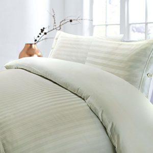 Juego de funda de edredón de algodón egipcio T230, con diseño de rayas, algodón egípcio, crema, suelto