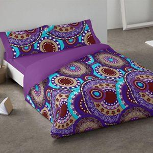 Burrito Blanco Funda nórdica 081 Lila de cama de 90x190/200 cm