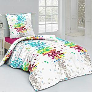 Cama de linus algodón 2piezas cremallera Pixeles Multicolor Marca, 135 x200 cm + 80 x80 cm