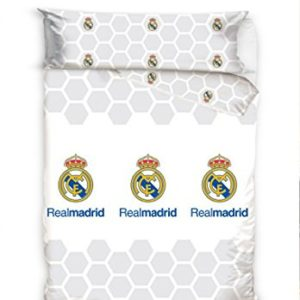 Real Madrid Juego de Cama 2 Piezas. Funda Nórdica + Funda de Almohada. Producto Oficial (150x220 (Cama DE 90 cmts))
