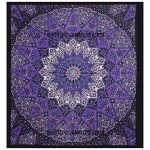 Funda de edredón con diseño de Mandala india y estrella morada, funda de edredón de mandala india, manta de tamaño queen, funda de edredón, colcha de cama, funda de edredón, funda de edredón, colcha y edredón,