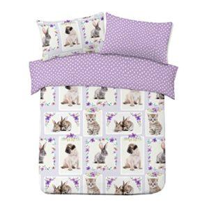 Dreamscene mascota amor de cama funda de almohada juego de ropa de cama, multicolor, doble/200x 200cm