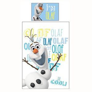Disney Funda de Edredón Frozen Olaf Reversible Cama Individual Incluye Funda de Almohada