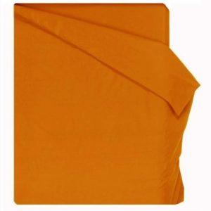 Home Royal - Funda nórdica lisa de 220 x 260 cm, para cama de 135 cm, color naranja