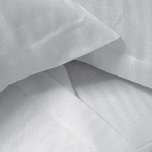 Eden 635010 Juego de funda nórdica de poliéster algodón, 220x 240cm, color blanco