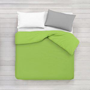 ADP Home - Funda nórdica Lisa, Calidad 144Hilos, 16 hermosos colores, cama de 135 cm - Gris Perla