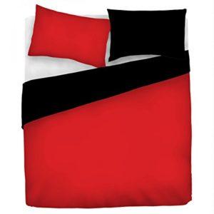 Datex Funda nòrdica Natural Color Rojo/Negro 2 plazas (250 x 200 + 2/52 x 82 cm)