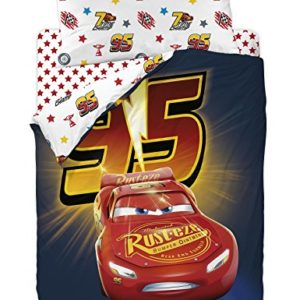 Disney Funda Nórdica para Cama Diseño Cars 3, Algodón-Poliéster, Multicolor, Individual, 200x90x25 cm, 3 Unidades