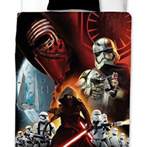 Funda nórdica Disney Star Wars Epic 7 Total, 140cm x 200cm, Con 1 Funda De Almohada 60cm x 70cm, Negro