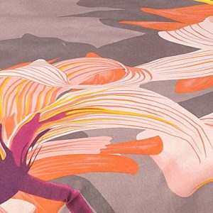 Casa Campo Juego De Funda Nórdica Salome Marrón Claro/Naranja Cama 150 (240 x 220/240 + 1/45 x 170 cm)