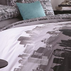Catherine Lansfield Cityscape - Funda nórdica + Funda de Almohada para Cama de 150 cm