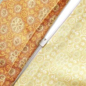 Bassetti Cortona - Juego de funda nórdica y funda de almohada de satén, 100 % algodón, multicolor, funda de cojín 40 x 80 cm