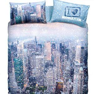 Bassetti Colección La Natura.- Conjunto de funda nordica White New York para cama de 90 cms (3 piezas)