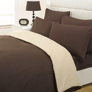 Impresiones Fusion edredón perfectdarts sábanas y fundas de almohada, 100% poliéster, marrón, crema, king size