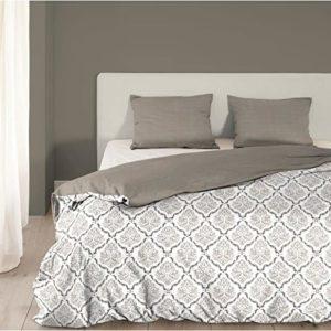 Buena Mañana de franela funda nórdica 4927-f Chambre, color gris–tamaño doble