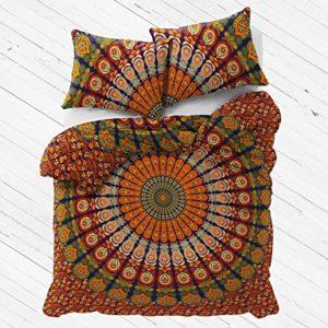 Exclusivo Floral funda de edredón con fundas de almohada por Labhanshi, Mandala funda de edredón, Boho colcha cubierta, Doona cubierta