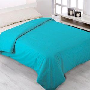 Fundas Nórdicas Lisas de todos los Colores - ENVÍO GRATUITO - Todas las Medidas - Fundas de edredónes de cama y colchas. (Cama de 150cm, Turquesa)