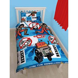 Character World - Juego de funda nórdica reversible y funda de almohada para cama individual (poliéster), diseño de Star Wars