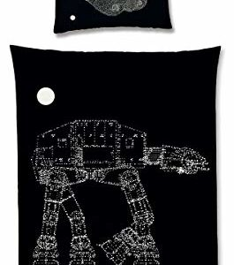 Funda nórdica 135 x 200 cm con bombilla efecto Star Wars AT-AT Walker Disney