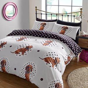 """Dreamscene–""""lunares perro Animal Juego de cama de funda de edredón con fundas de almohada, multicolor, cama individual"""
