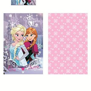 Disney FROZEN Anna Elsa CARTOON Juego de Cama Funda Nórdica de 140 X 70 cm en Algodón 100% Original Disney Snow Queen Baby