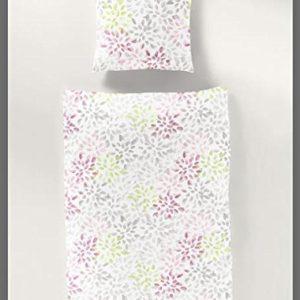 Bierbaum–Ropa de cama (2piezas, funda nórdica de 135x 200cm y almohada 80x 80cm Pastel patrón