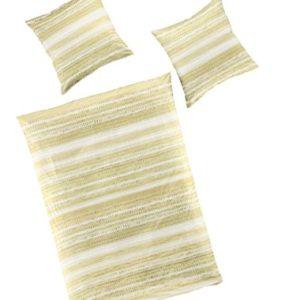 Bierbaum–Ropa de cama (2piezas, funda nórdica de 155x 220cm y almohada 80x 80cm patrón pistaz
