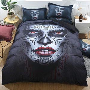 3pcs conjuntos de funda nórdica Demon Face juego de ropa de cama Impreso, funda de edredón con funda de almohada, Multiplicate, 160*210cm for 1.2M Bed