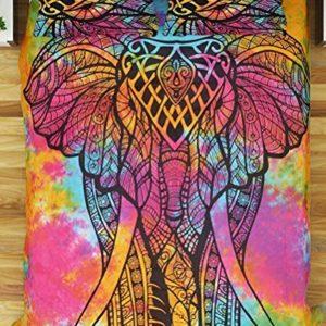 """Exclusivo doble Multi elefante Mandala funda de edredón con fundas de almohada por """"Sophia Art, funda de edredón, funda nórdica Mandala (Multi)"""