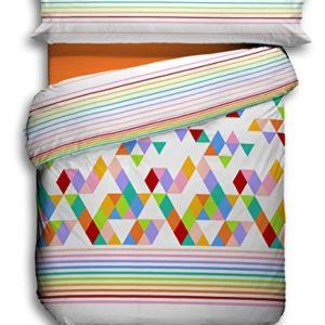 Quilt & CO Kayla - Juego de Funda nórdica para Cama de 90 cm, 150 x 220 cm, Color Naranja