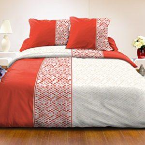 Home Passion 61115PARURES 3piezas Bayonne algodón, 220x 240cm, multicolor