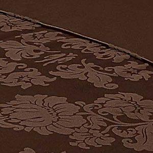 Descanso para Cama de Matrimonio algodón 65 por ciento/35 de Funda de edredón y de ensamblaje de Ornamentos de poliéster, marrón