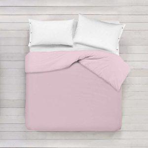 ADP Home - Funda nórdica Lisa, Calidad 144Hilos, 17 Hermosos Colores, Cama de 150 cm - Color: Rosa Suave