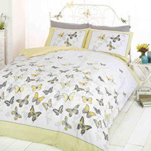 Art Funda de edredón y 1funda de almohada juego de cama, polialgodón, Amarillo