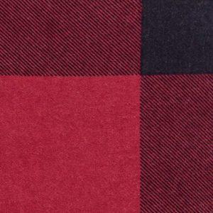 AmazonBasics - Juego de cama de franela con funda nórdica - 135 x 200 cm/50 x 80 cm x 1, Tartán rojo