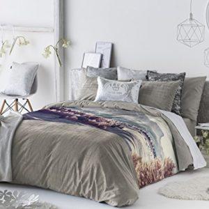 Antilo - Funda nórdica FATI cama 135 (Juego duvet 3 piezas con saco nórdico, cojines decorativos y funda de almohada)