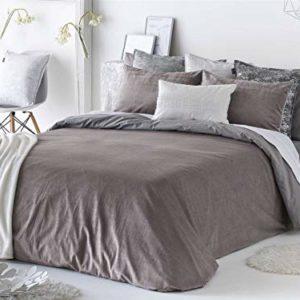 Antilo - Funda nórdica BAKER cama 180 - Color Malva (Juego duvet 3 piezas con saco nórdico, cojines decorativos y funda de almohada)