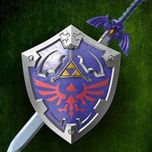 Character World–Juego de Ropa de Cama Reversible The Legend of Zelda, 135x 200cm 80x 80cm, 100% linón de algodón con Cremallera, Zeld Schwert, 135 x 200 cm