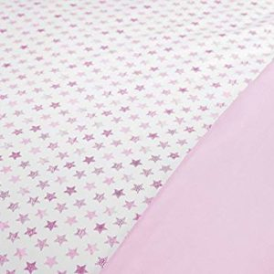 Manterol Juego de Funda nórdica Estrellas para Cama de 90 cm (Rosa)