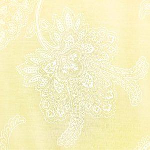 Fila-a-fill funda de edredón de encaje Floral y funda de almohada, mezcla de algodón, Amarillo, matrimonio